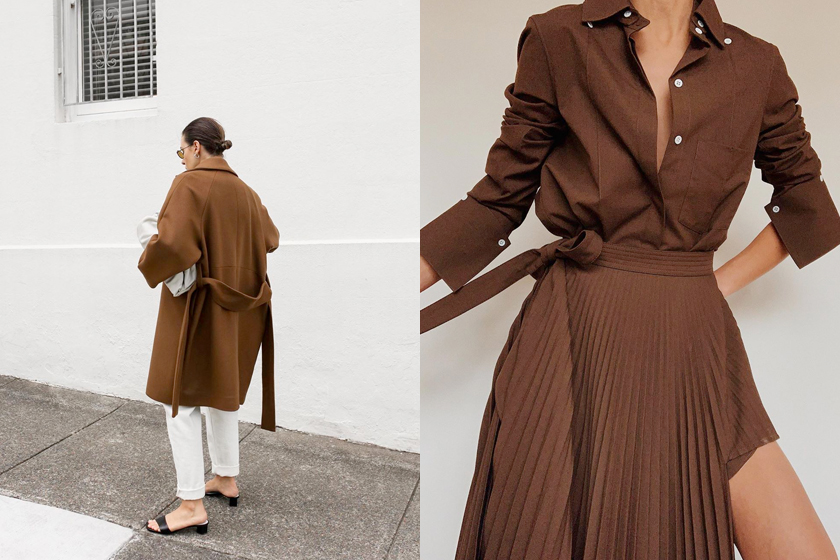 chocolate brown color trends 2019 fw styling inspiration