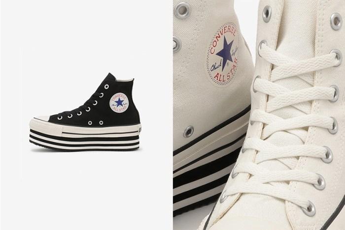 嬌小女生的福音!Converse 再度推出可愛的厚底版本高筒帆布鞋!