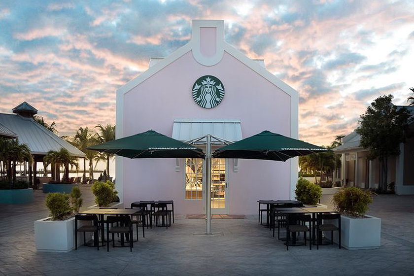 Pink Starbucks Coffee Turks & Caicos Islands Grand Turk