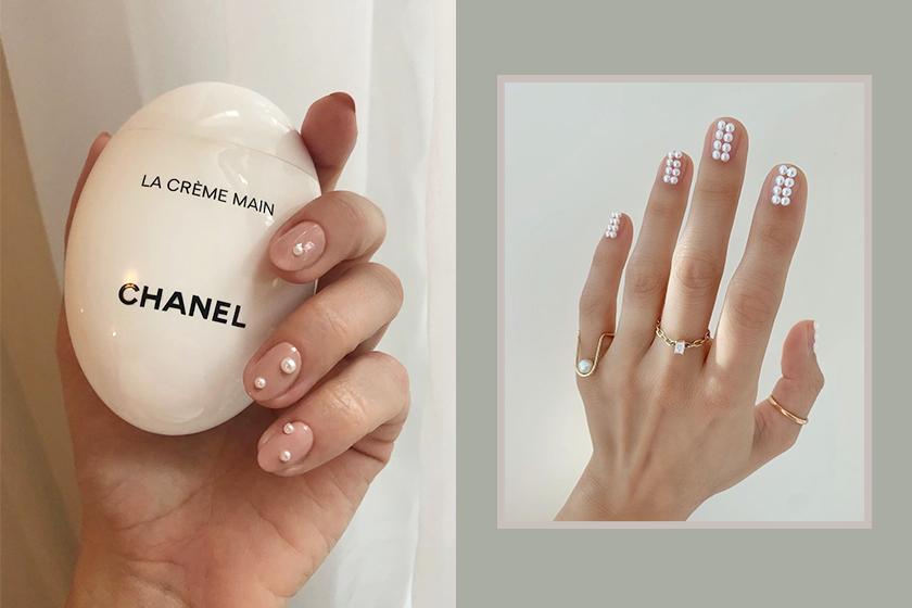 Pearls Nail Arts Trend Nail Style Idea