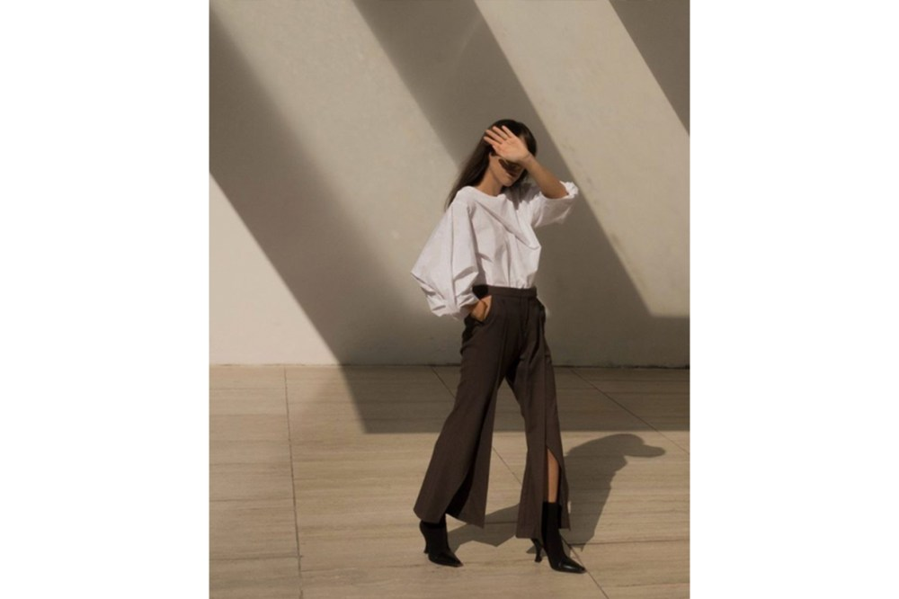 White Top and Black Trousers Fashion Style