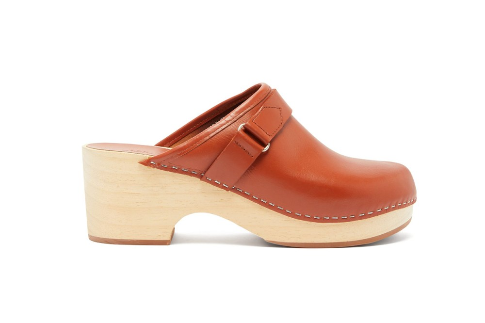 A.P.C. Sabot Coline Backless Leather Clogs