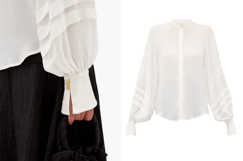 Acacia Bishop-Sleeve Blouse