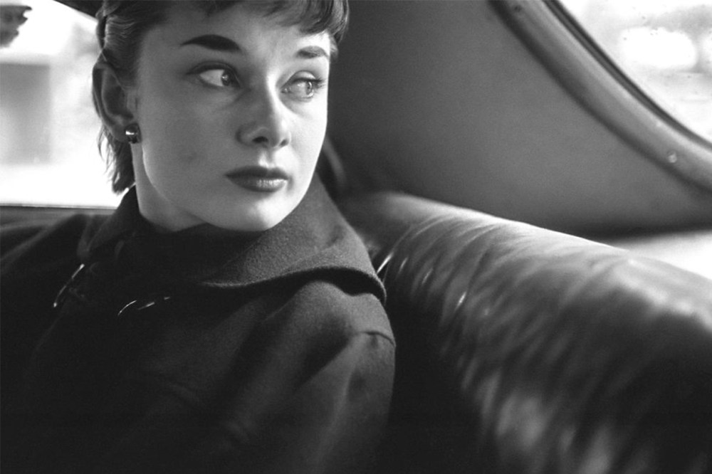 Audrey Hepburn In A Car