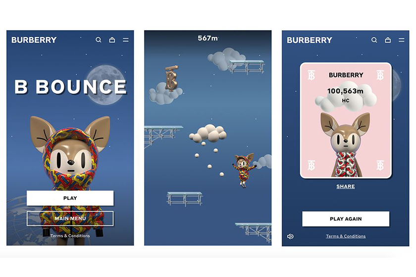 burberry online mini game b bounce release info