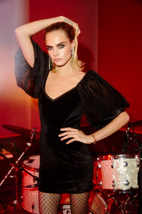 cara delevingne nasty gal collabration dress suits 2019