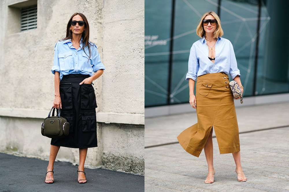 Shirt and Cargo Skirt Fashion Week 2020