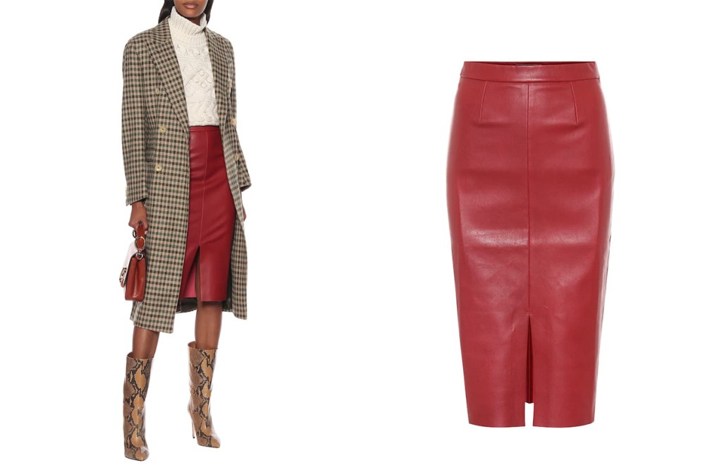 Carmen Leather Midi Skirt