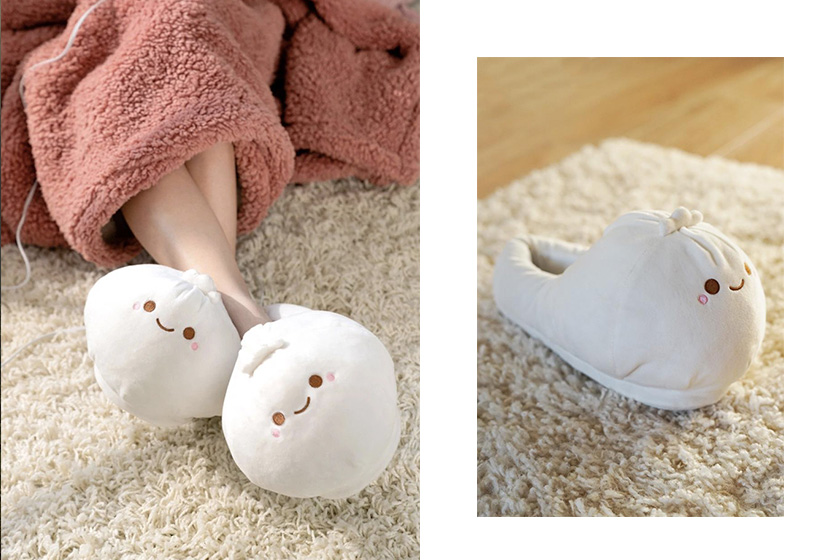 smoko dumpling slippers bao heated usb shoes