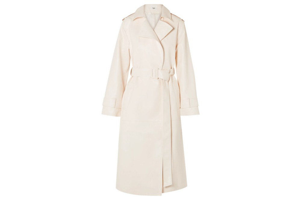 Eve Faux Leather Trench Coat
