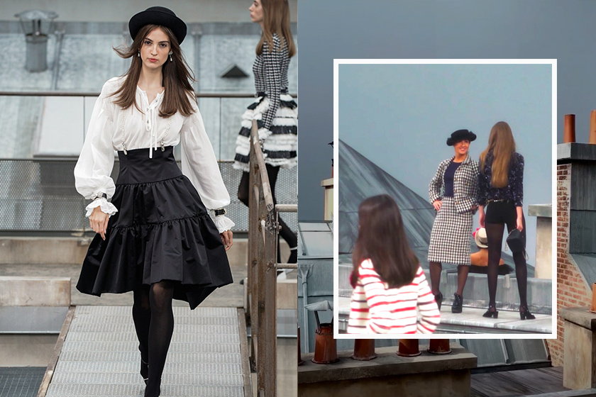 chanel Paris fashion week runway crasher catwalk