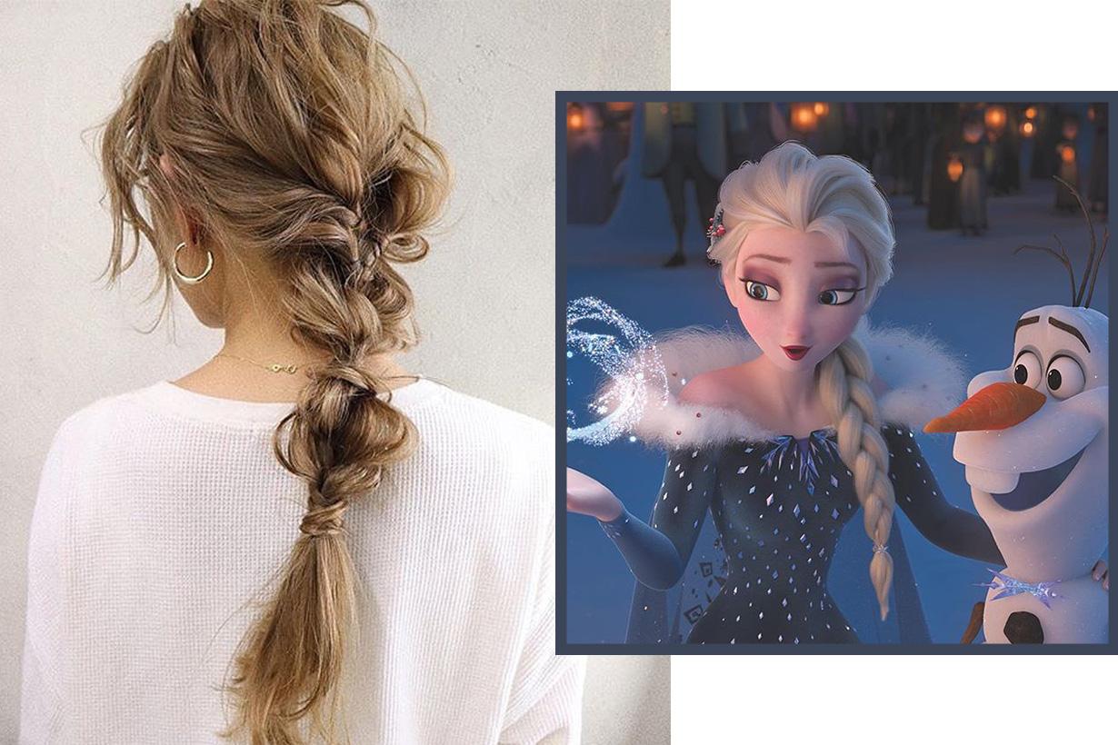 Forzen 2 Elsa Ponytail hairstyle
