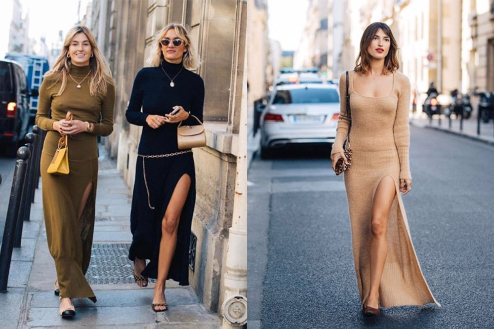 French Style Jumper Dresses Street Style