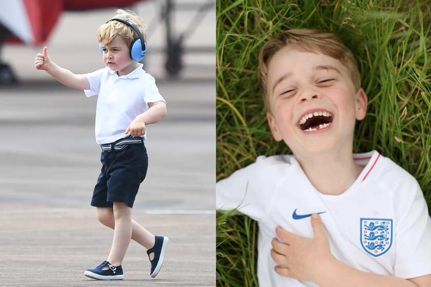 prince george charlotte spotted football game william kate