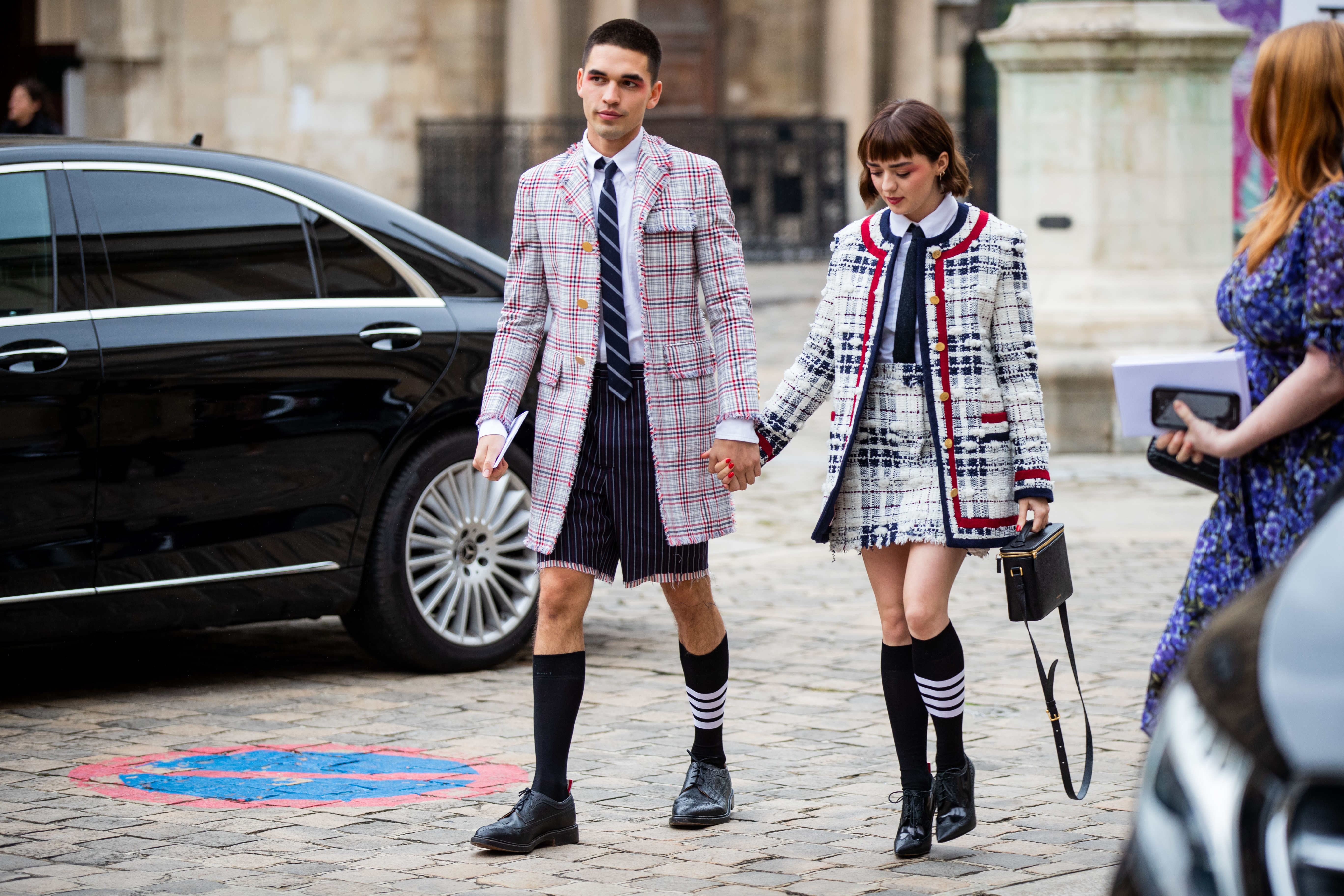 Maisie Williams  Reuben Selby Paris Fashion Week Couple Style