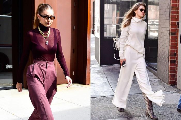 穿高領毛衣也比別人時尚:Gigi 的同色系穿搭,絕對是秋天必學!