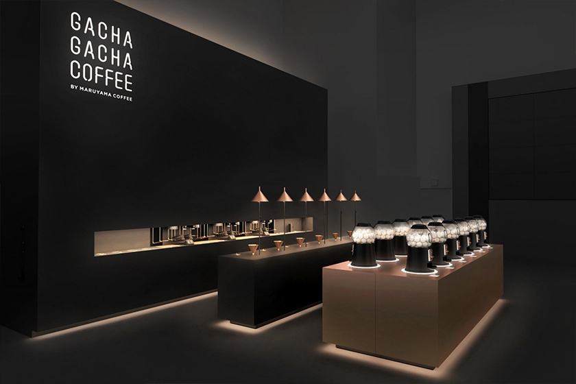 Nendo Maruyama Coffee gacha gacha coffee Tokyo Japan