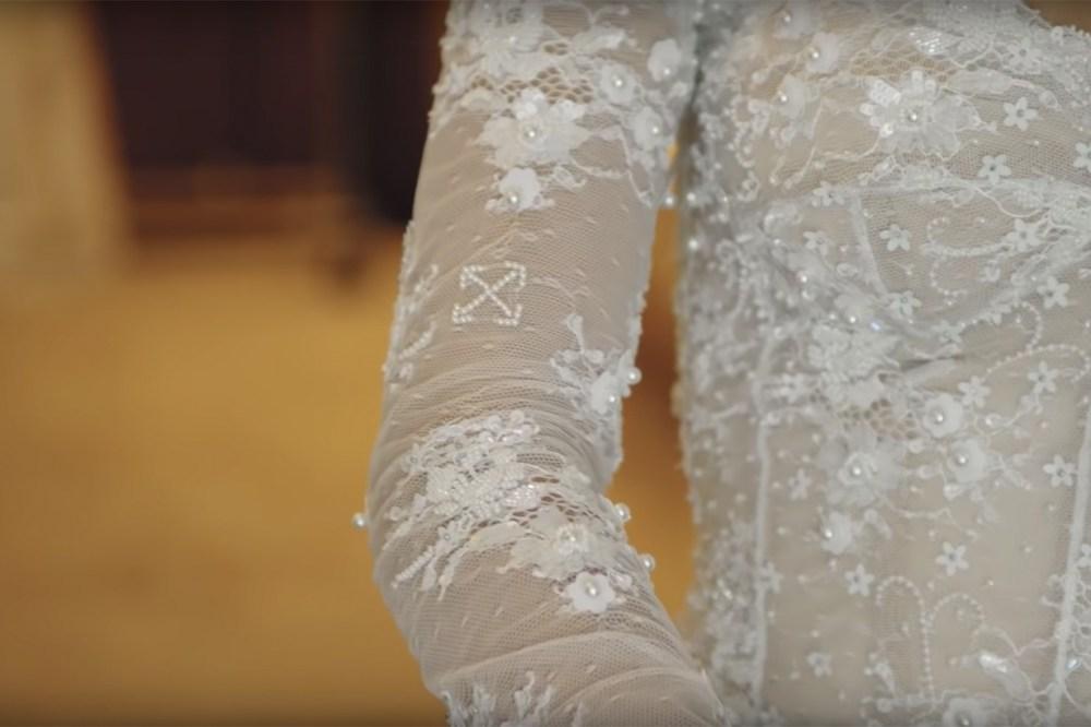 hailey bieber wedding dress