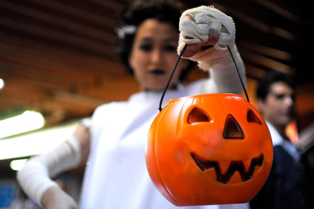 Halloween Blue Pumpkin buckets