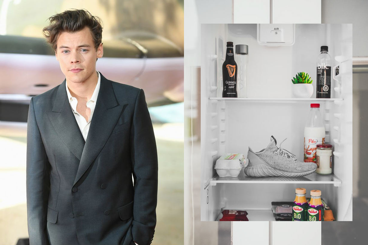 Harry Styles Keeps His Clothes In A Giant Refrigerator
