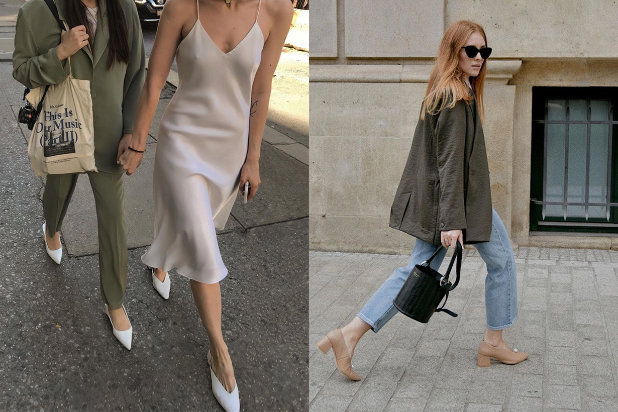 Pointed toe shoes are finally back on the map