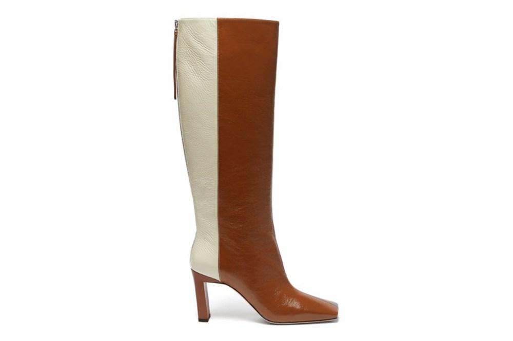 Isa Tri-Colour Square-Toe Leather Boots