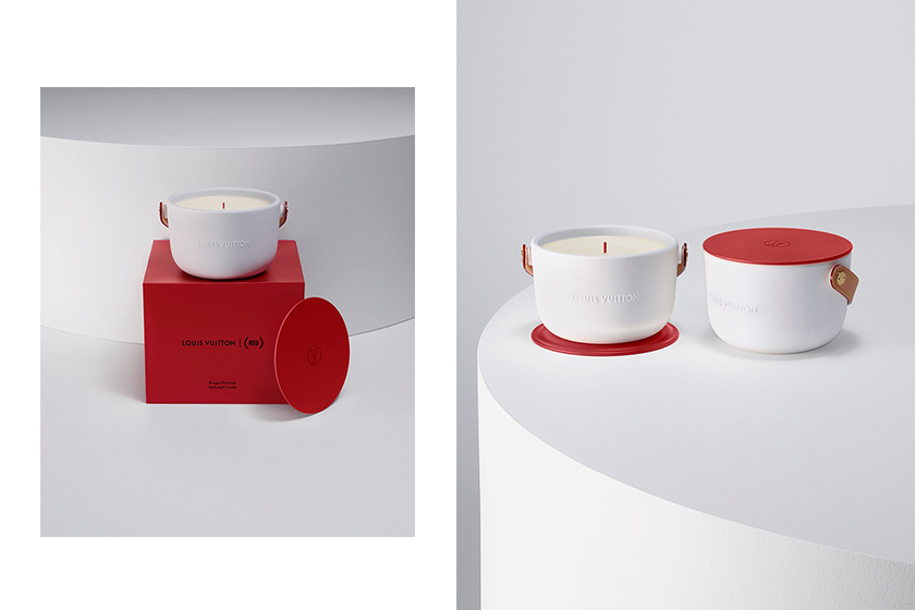 red Louis vuitton candle fight against aids fundraising