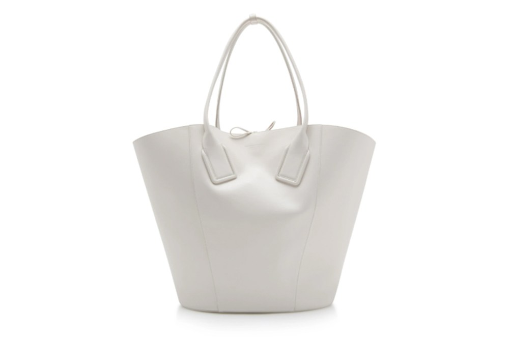 Large Leather Basket Tote