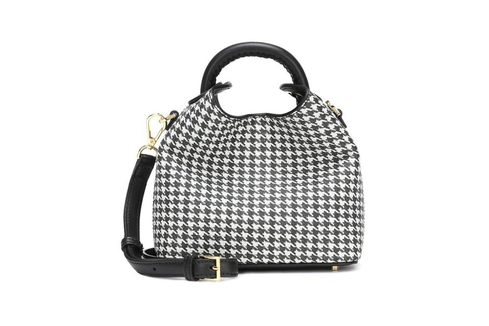 Madeleine Houndstooth Shoulder Bag