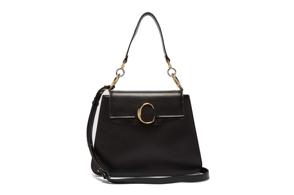Medium The C Leather Shoulder Bag