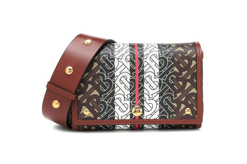 Monogram Stripe E-Canvas Shoulder Bag