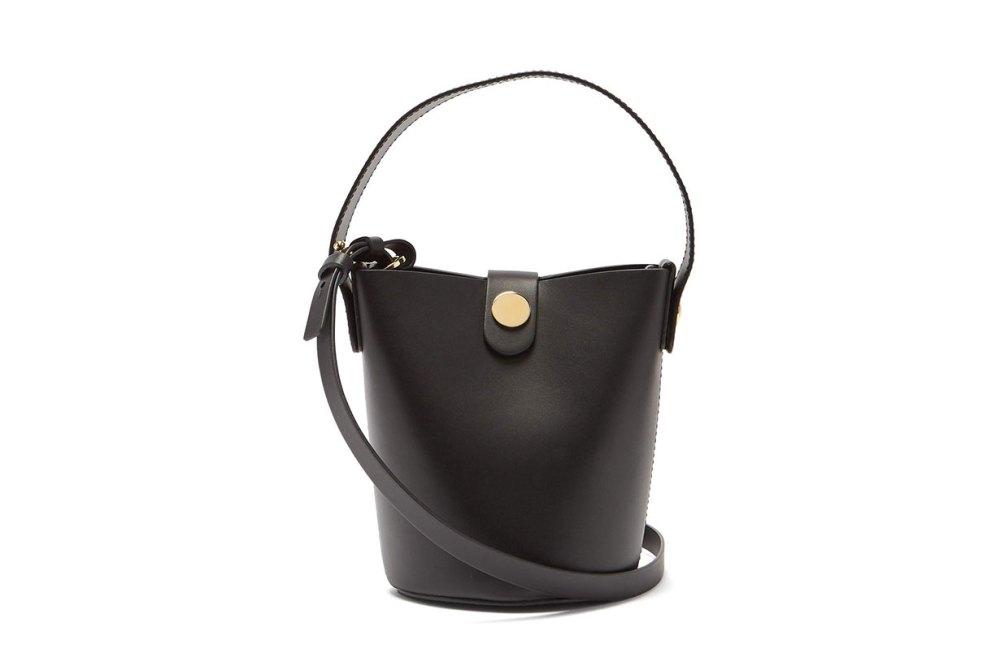 Nano Swing Leather Bucket Bag