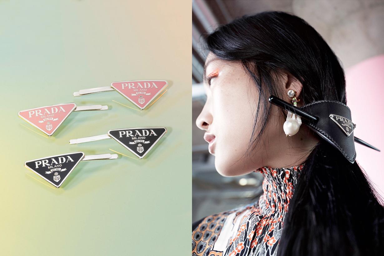 prada accessory hair pin clip airpods case tokyo pop up