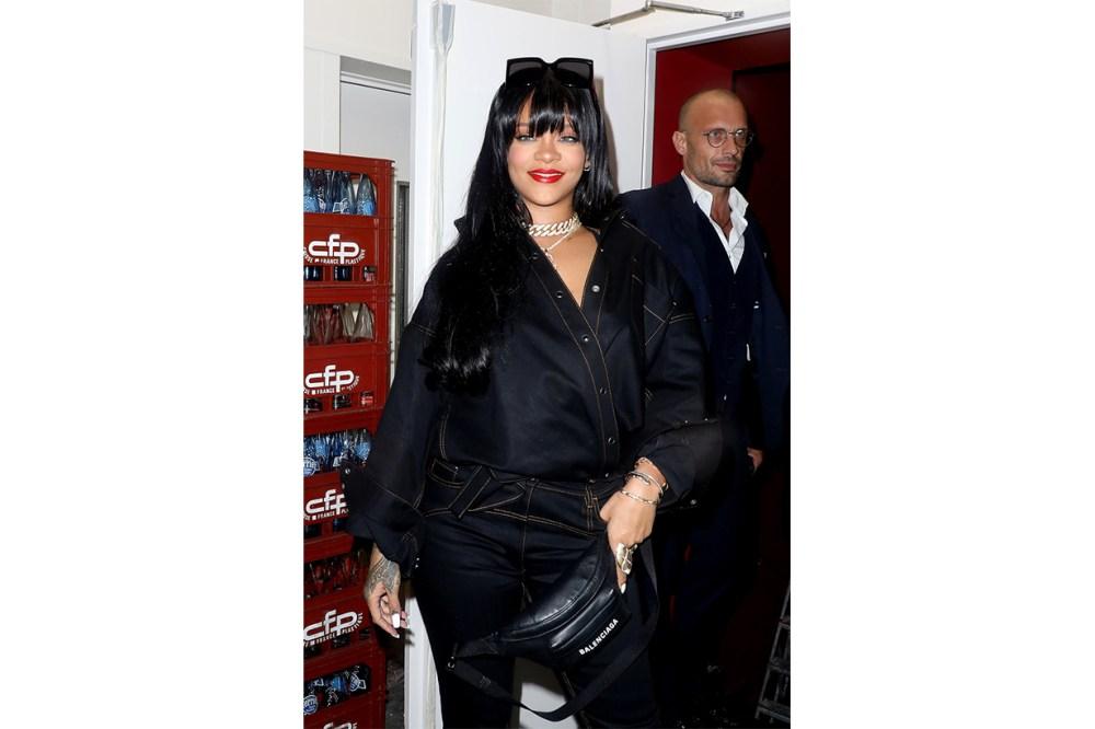 Rihanna Paris Fashion Week 2019 PFW Spring Summer 2020 SS20 Bang hairstyles celebrities hairstyles