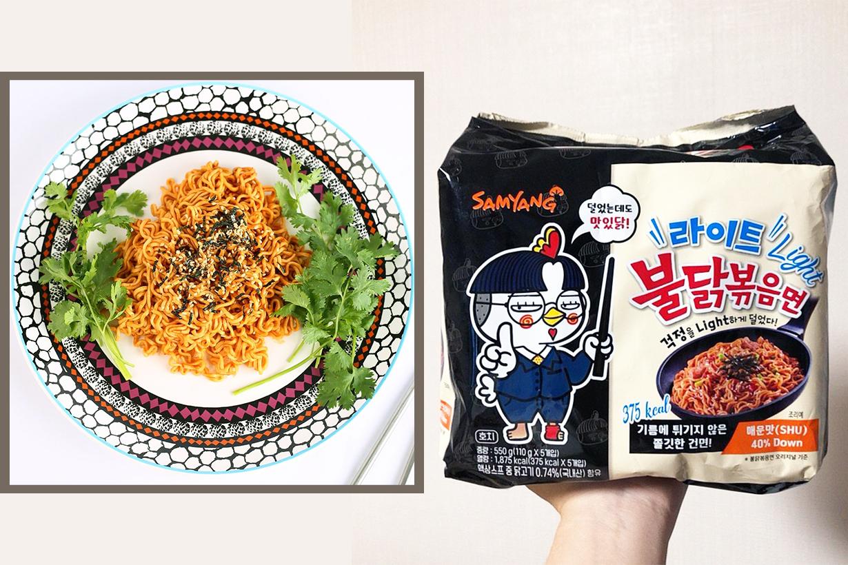 Samyang korean spicy noodles Spicy Chicken Noodles  Light Version buldak Instant Noodles