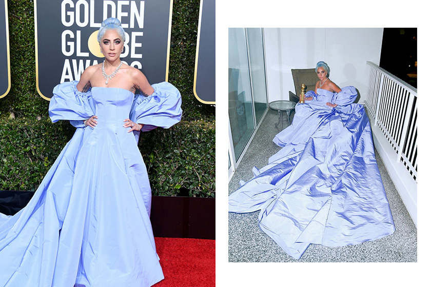 Lady Gaga Golden Globe gown auction Valentino alleges stolen