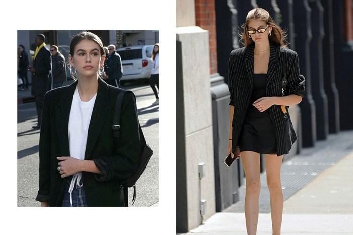 總能將西裝外套詮釋的理所當然,向超模 Kaia Gerber 偷師 20+ 中性正裝穿搭!