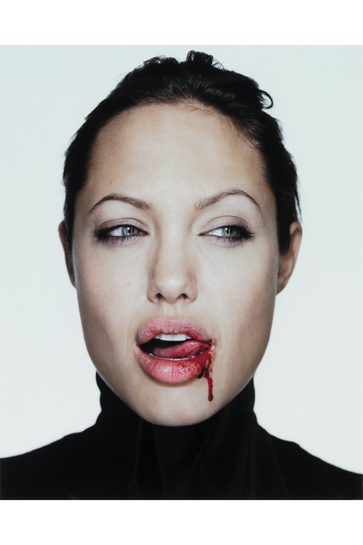 Angelina Jolie With Blood Photography Sotheby's Auction