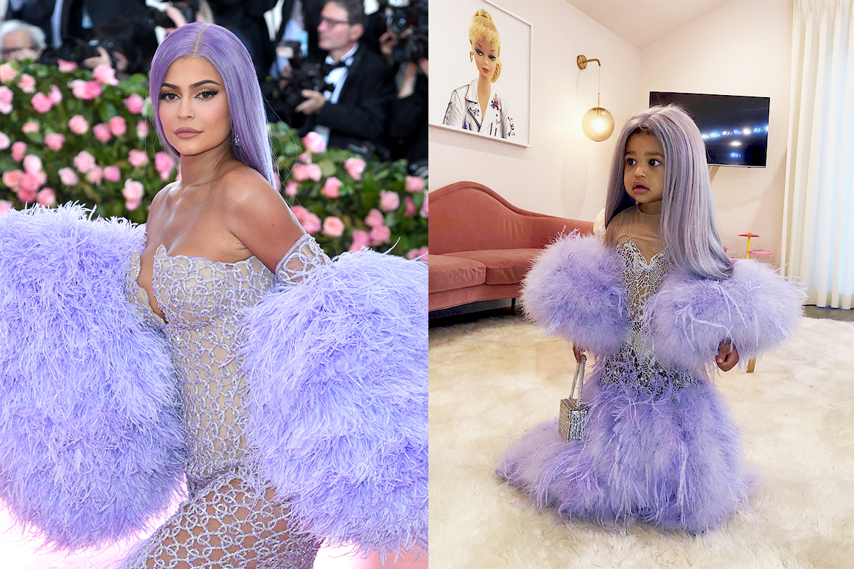Stormi Webster Kylie Jenner Met Gala 2019 Camp: Notes on Fashion Versace purple dress Mila Stauffer Emma Stauffer Halloween Costumes 2019