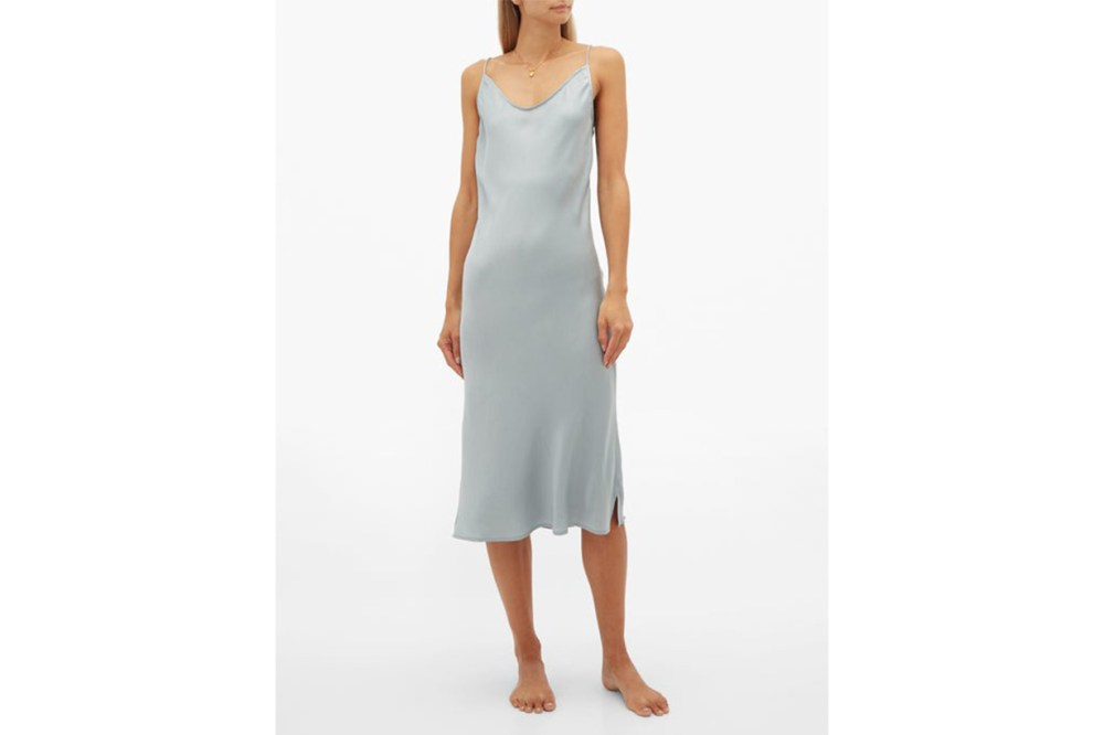 Terra Scoop-Neck Silk-Blend Slip Dress