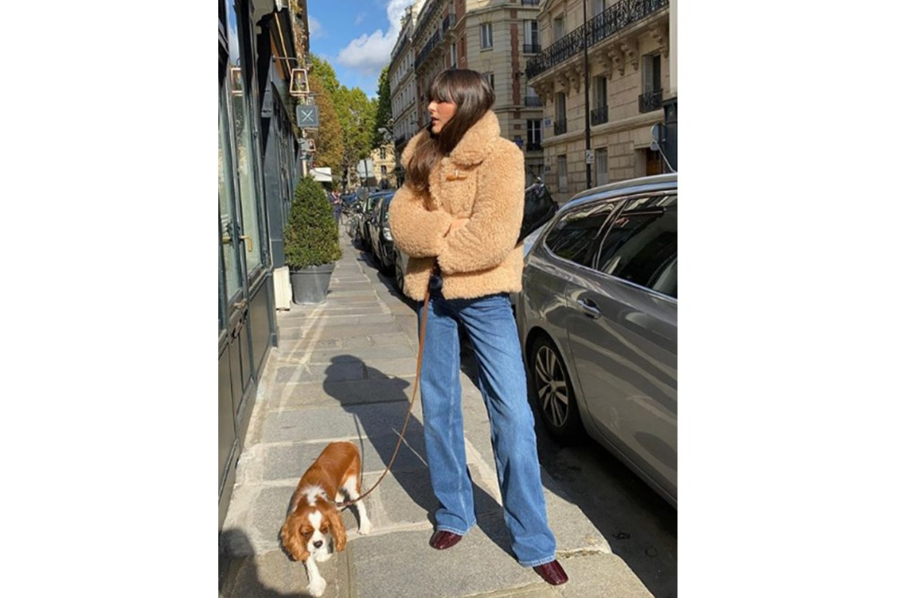 French Style Shearling Coat Street Style