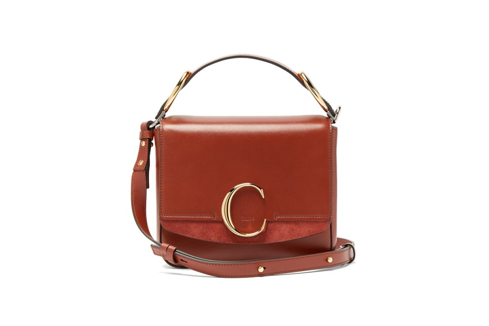 The C Squared Leather and Suede Cross-Body Bag