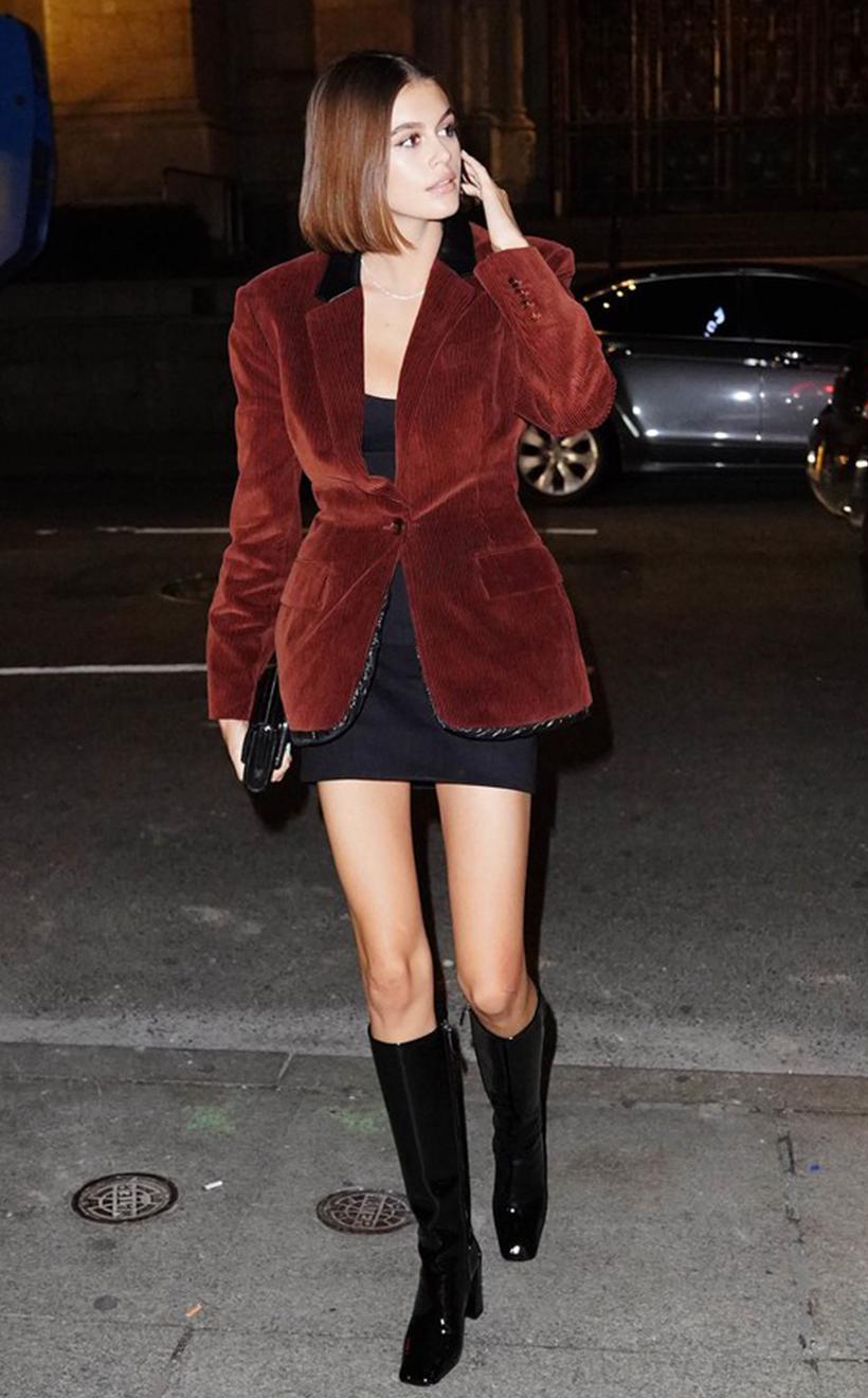 kaia gerber style wear blazers
