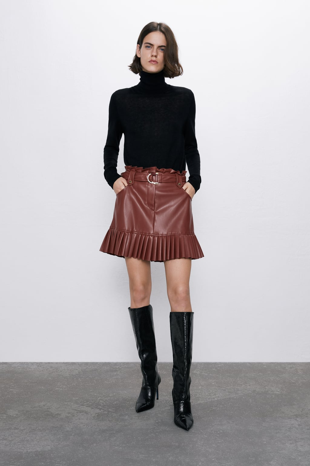 zara leather items 2019 fw jacket skirt shirts pants
