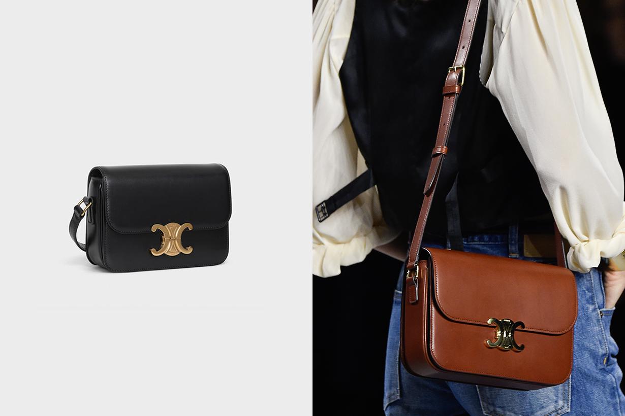 Celine Triomphe Handbag Celebrities Outfit Style