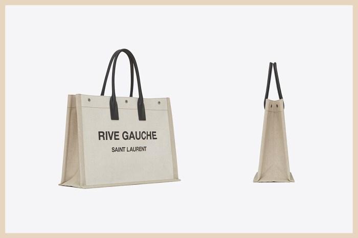 可裝下所有東西的大容量手袋:Saint Laurent 這款 Logo Tote Bag 簡約又時髦!