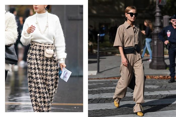 這個秋冬讓穿著更加有型的秘訣:向街拍型人們偷師這 10 款 Belt Bag 搭配吧!