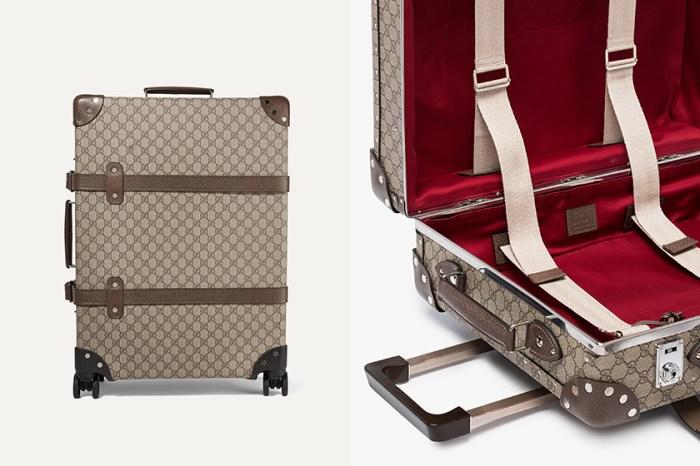 奢華旅行配備:Gucci 推出典雅的 Monogram 皮革行李箱,引起時尚女生關注!