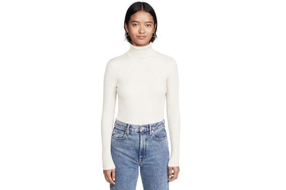 525 America Ribbed Turtleneck Sweater
