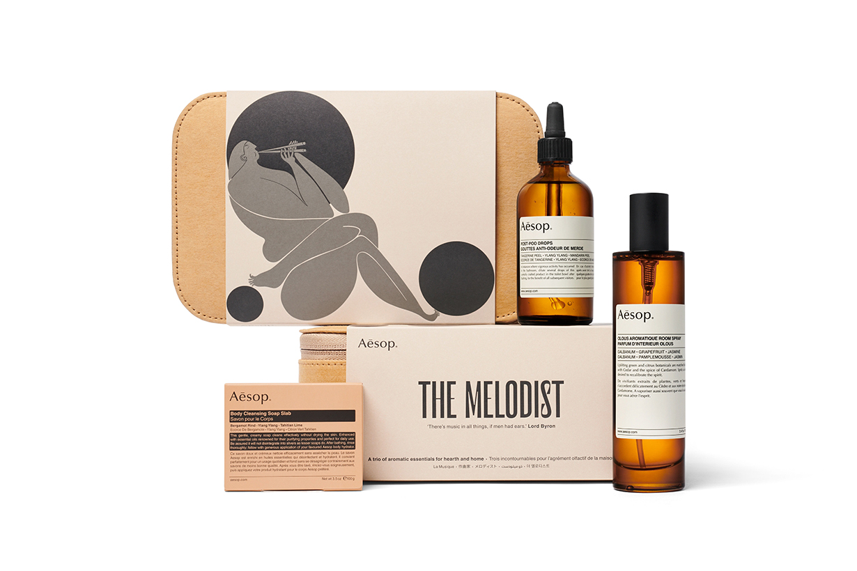 Aesop Gift Kits 2019-2020: Of Muse and Myth Christmas Gift Sets ancient Muses of Greek mythology skincare body care home spray